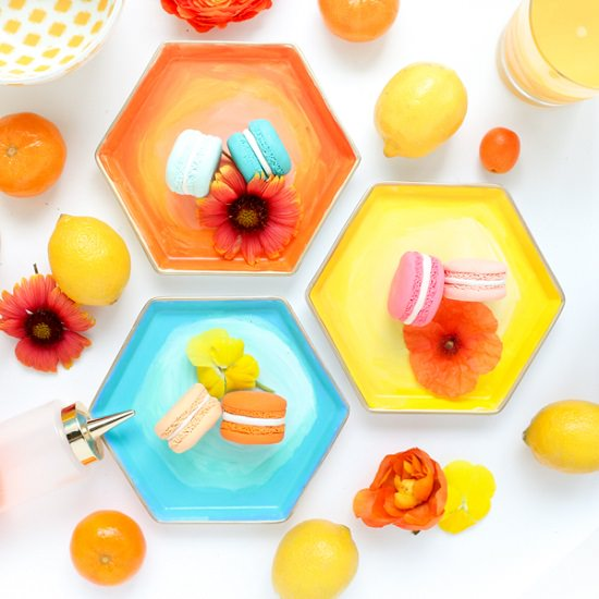 DIY Hexagon Plates