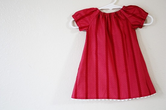 Infant Peasant Dress diy baby clothes