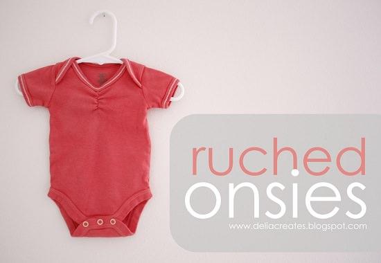 Ruched Onesie