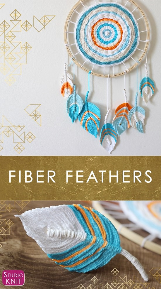 DIY Fiber Feather Hanging
