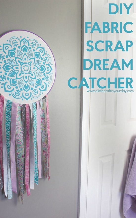 DIY Hanging with fabric scrap