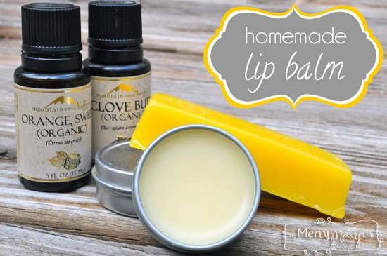 Natural Clove and Orange Lip Balm