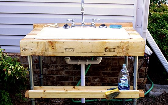 Customizable Outdoor Sink