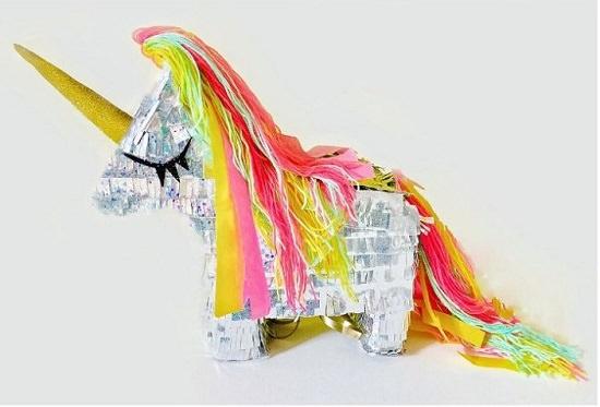 Masking Tape Unicorn Pinata