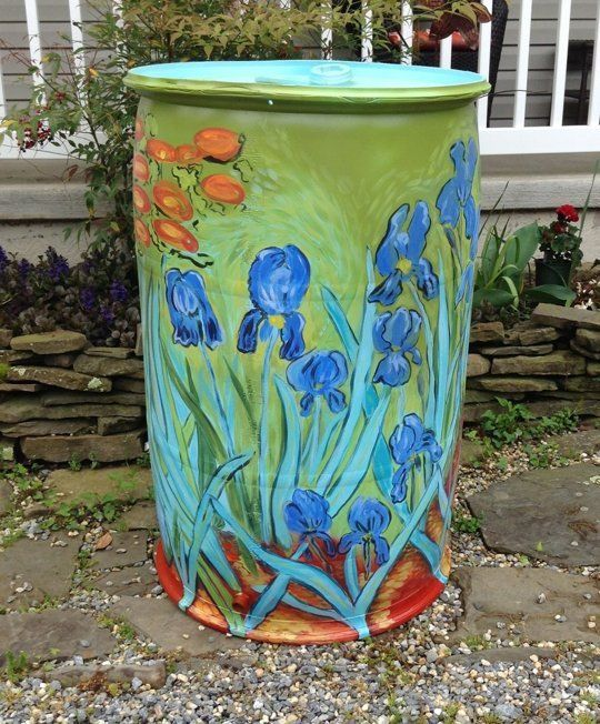 decorative rain barrel ideas3