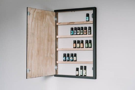 DIY Hidden Essential Oil Storage