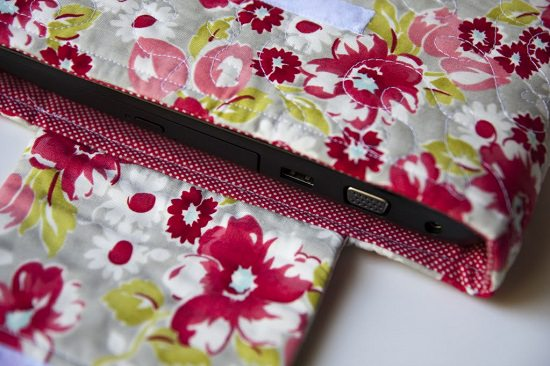 Cotton Fabric Laptop Pouch