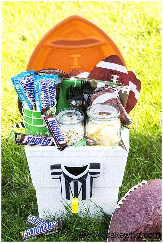 Homemade Football Gift Basket