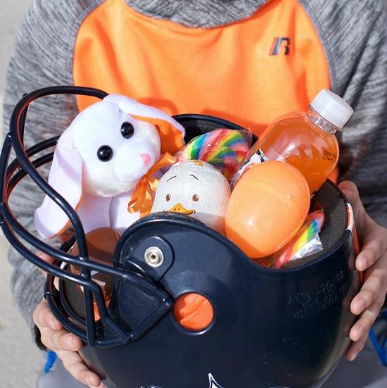 Football Helmet Basket