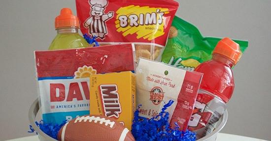 Sports-Inspired Birthday Gift Basket