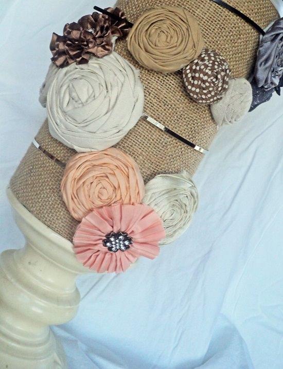 Fabric Hair bow Organizer