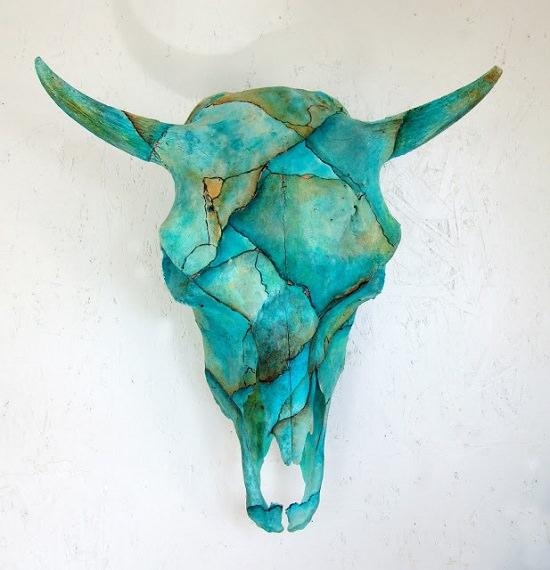 9 Painted Cow Skull Ideas For Rustic Room Decor Cradiori