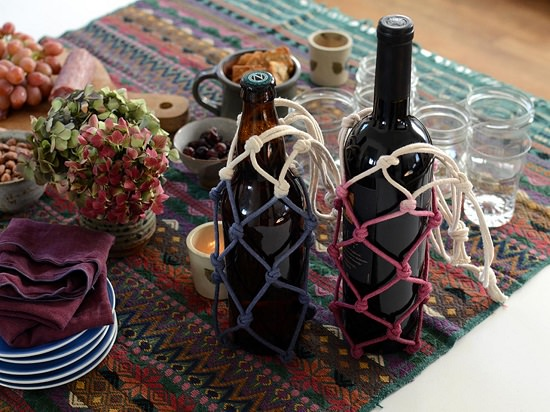 Dip-Dyed Bottle Holder
