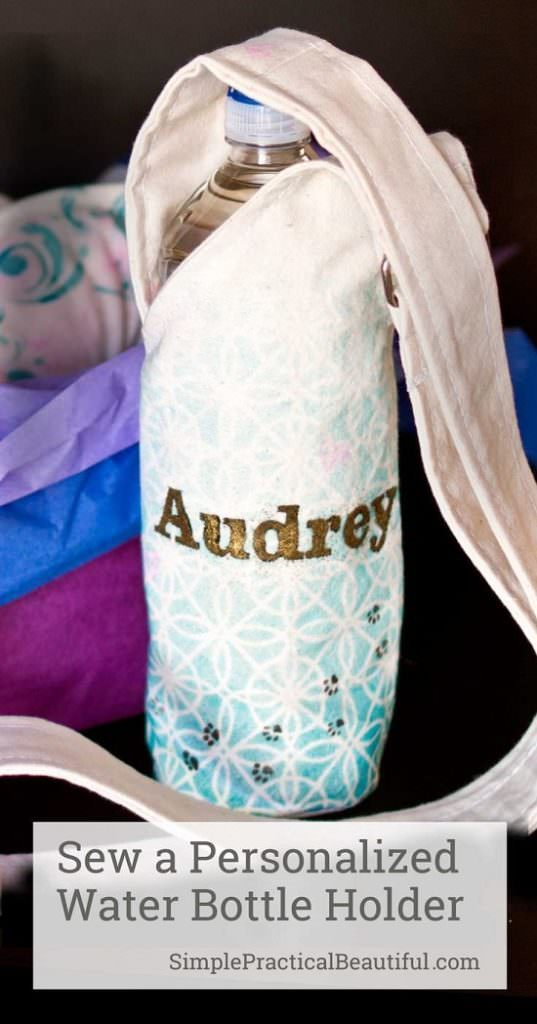 Personalized Water Bottle Holder
