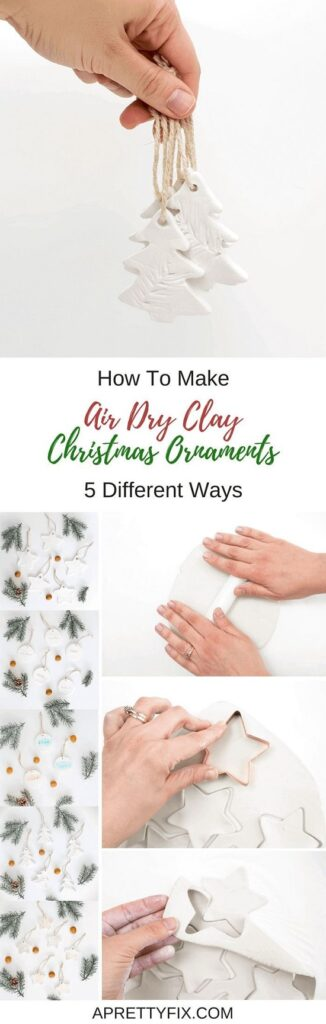 Air Dry Clay Ornament Ideas1
