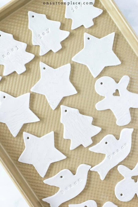 Air Dry Clay Ornament Ideas2