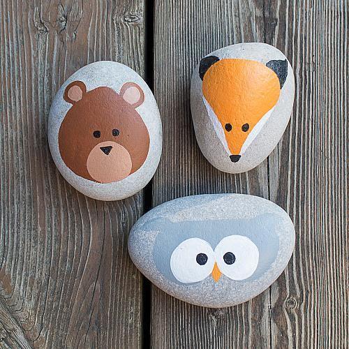 Painted Animal Rocks