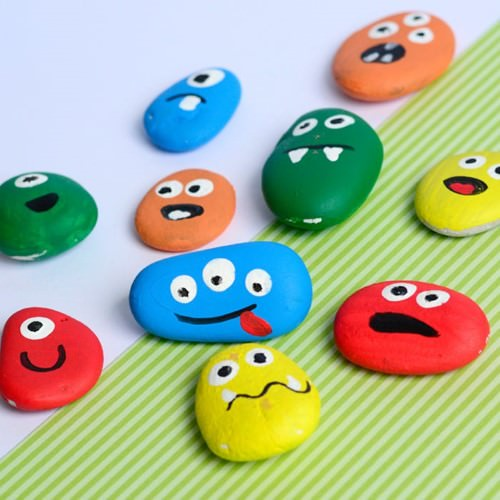 Painted Rock Monsters