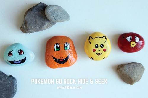 Pokemon Painted Rocks