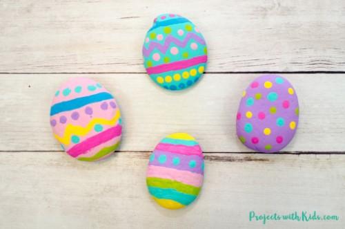 Easter Egg Painted Rocks