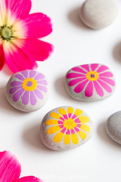 Floral Painted Rocks