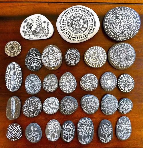 Mandala Design Rock Painting