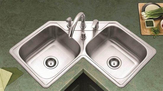 Topmount Corner Sink