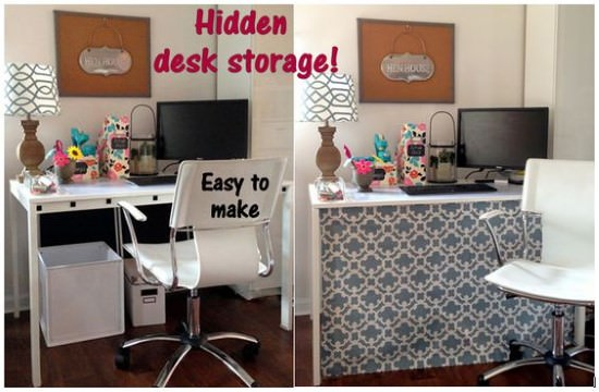 Create a Hidden Under Desk Space
