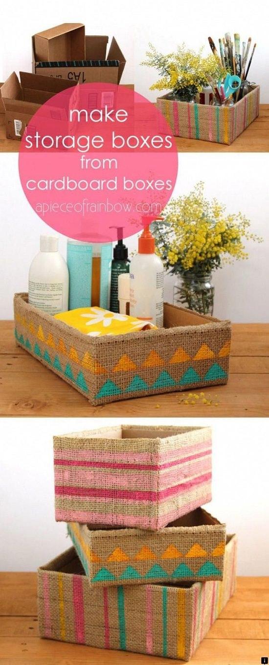 DIY Storage Cardboard Boxes