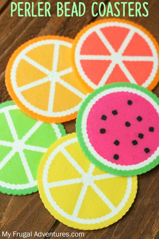 Citrus Bead Coasters