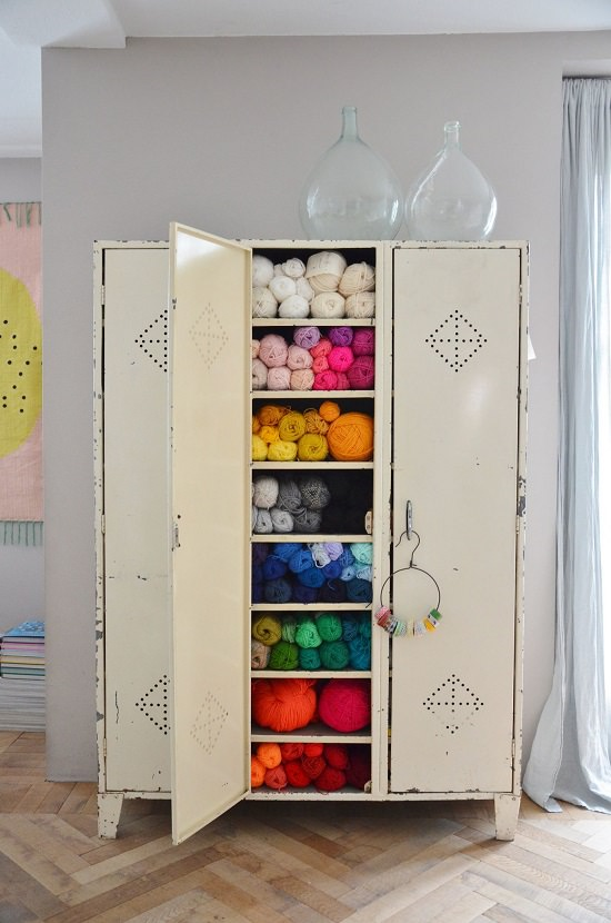 Repurposed Locker Organizer