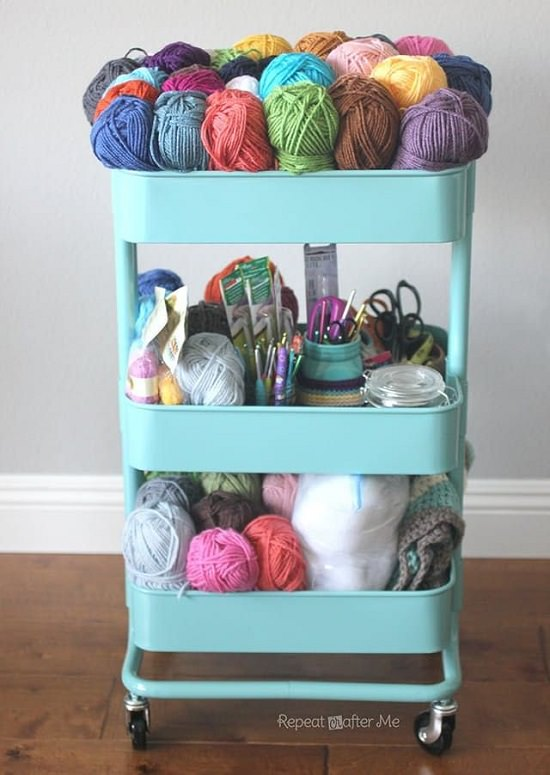 Crochet Cart on Wheels
