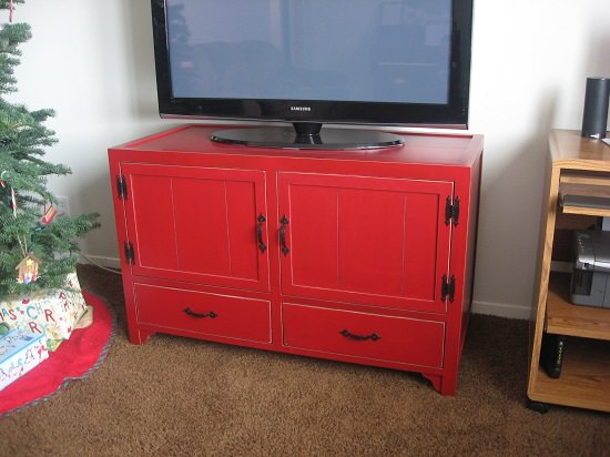 Antique Plywood TV Cabinet
