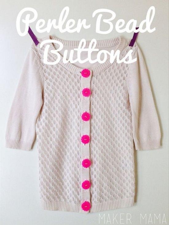 Perler bead Buttons
