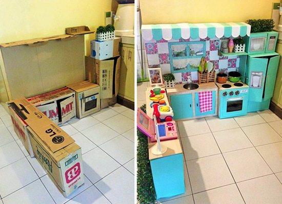 DIY Cardboard Cafe Kitchen