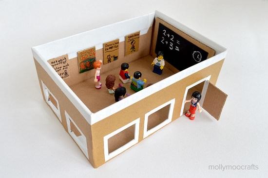Cardboard Shoebox School