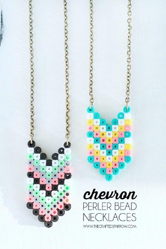 Chevron Perler Necklace
