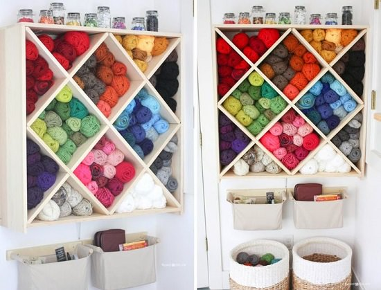 Wine Rack Yarn Organizer