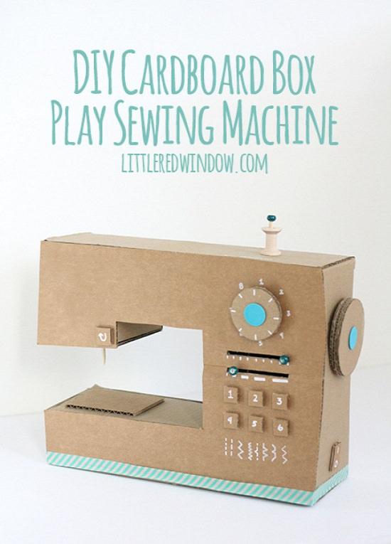 DIY Cardboard Sewing Machine