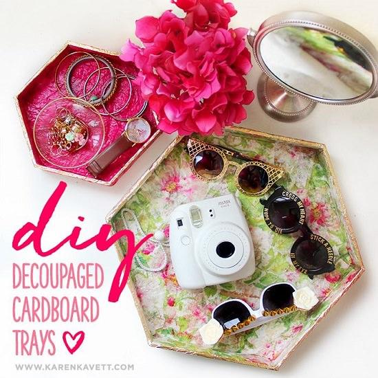 Decoupage Cardboard Trays