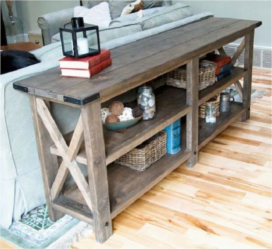 Rustic Look Console Table