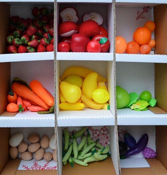 Cardboard Grocery Store Setup