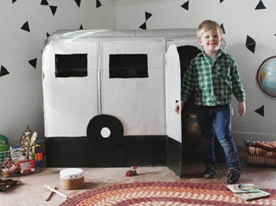 Cardboard Box Camper