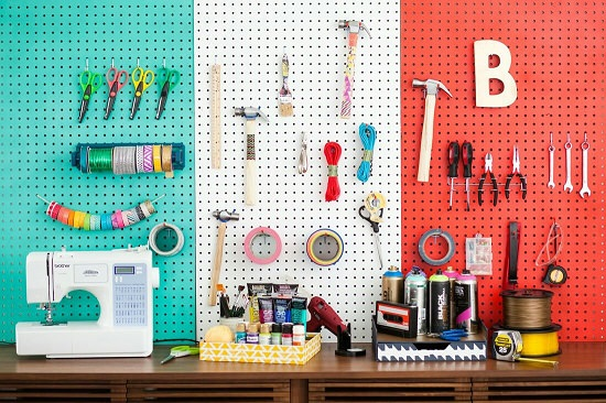 Pegboard Ideas for Craft Room6