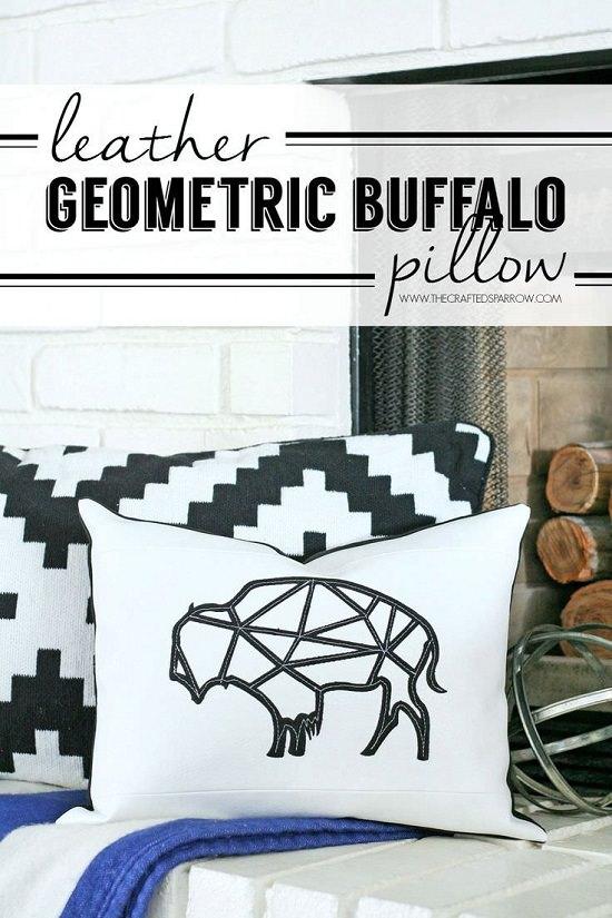 Cricut Design Leather Pillow