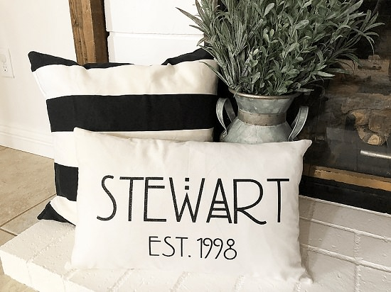 Cricut Personalized Pillow
