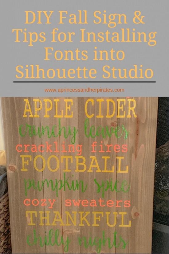 DIY Fall Sign & New Font Installation