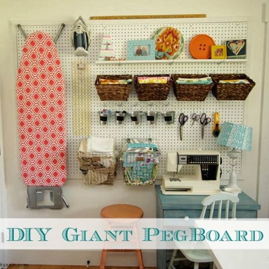 Pegboard Ideas for Craft Room1