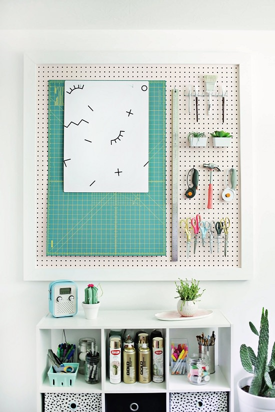 5 Ways to Transform a Pegboard