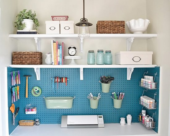 Pegboard Ideas for Craft Room5